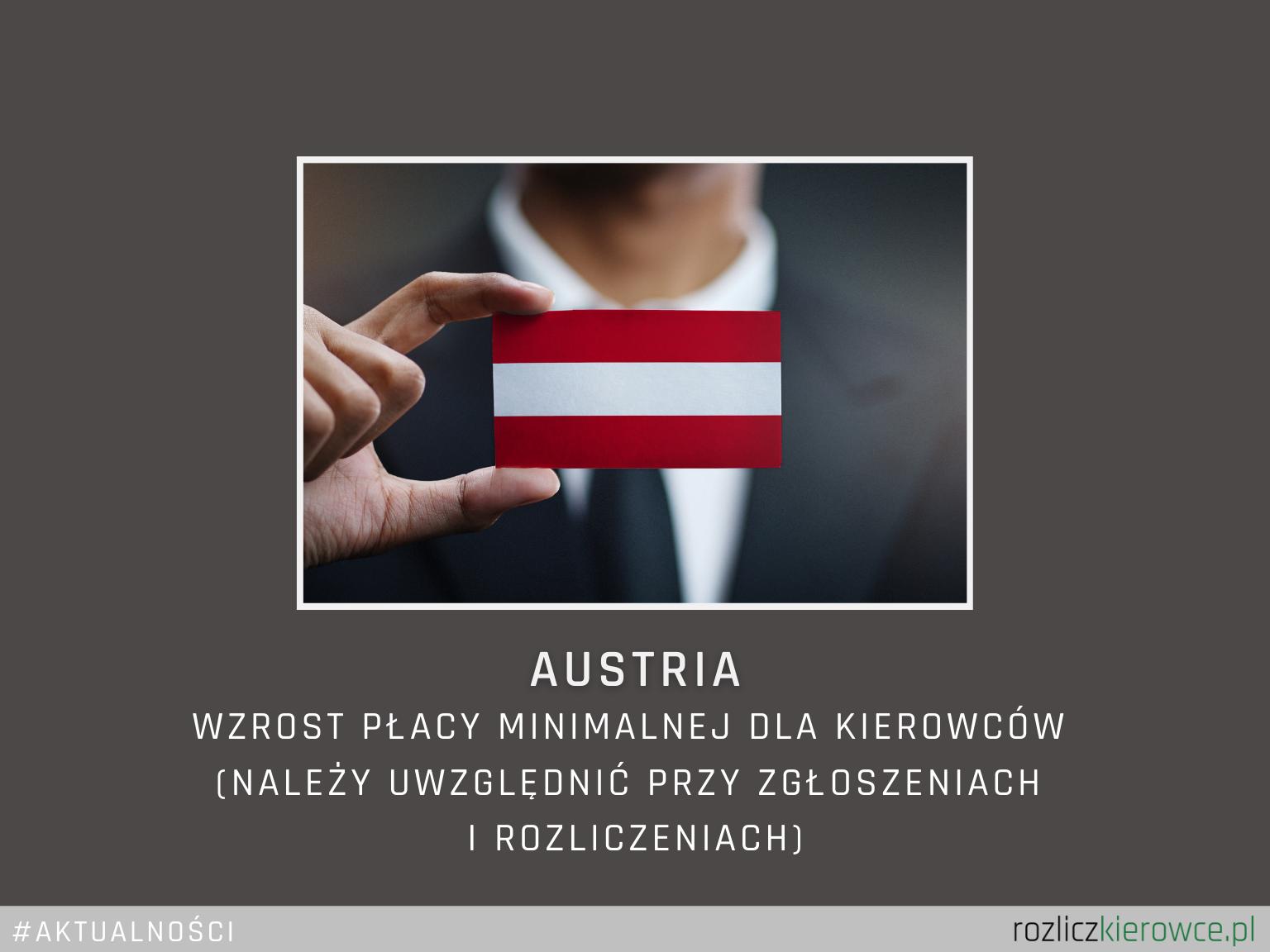 🇦🇹🚛 AUSTRIA- Wzrost płacy minimalnej na rok 2021