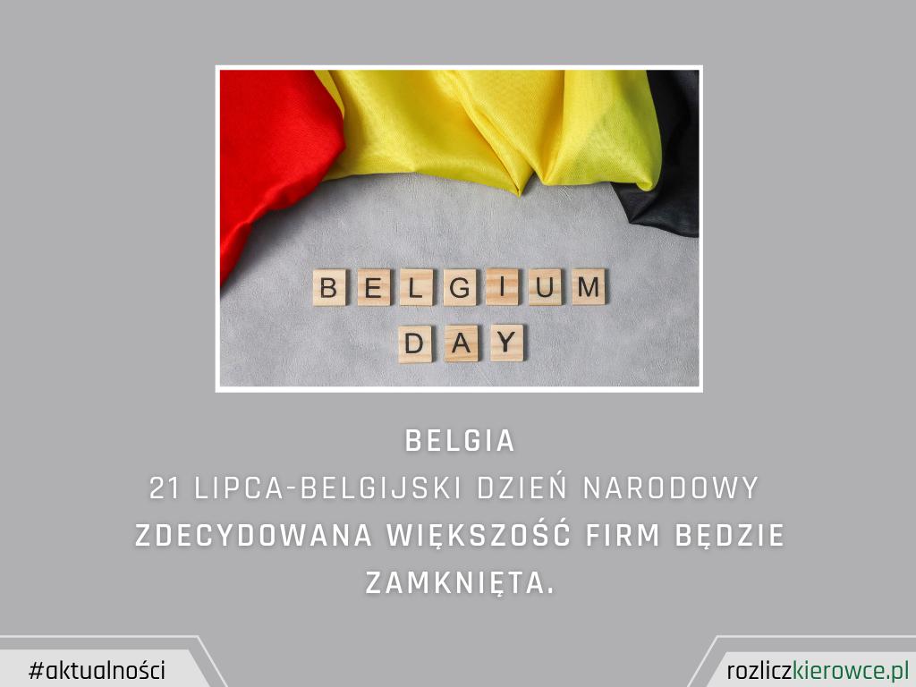 BELGIA-21.07 Belgijski Dzień Narodowy
